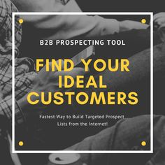Ultimate to find your Ideal Customer along with Verified Business eMail & Phone. Get Sales appointments with top Prospects & Increase ROI. Business Emails, Online Business, Sales And Marketing, Email Marketing, Sales Prospecting, Lead Generation, Top Prospects, Finding Yourself, Social Media
