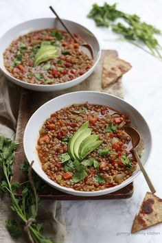 This vegetarian Mexican lentil soup is a healthy one-pot meal.
