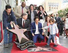 And his son was there and he helped him reveal the star:   DILF Orlando Bloom Being His DILFiest While Getting A Star On The Walk Of Fame