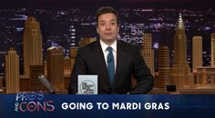 Jimmy Fallon lists pros, cons of going to Mardi Gras | Carnival Central  - WDSU Home (Hooray, Jimmy for keeping it fun!)