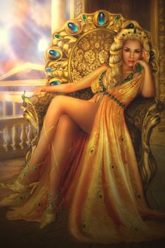 Hera (Juno) Greek Goddess - Art Picture by liliaosipova Beautiful work and it would look like her but her hair is too curly. Description from pinterest.com. I searched for this on bing.com/images