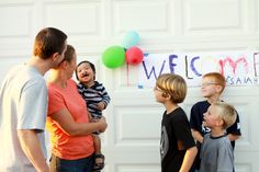 We brought Benjamin home on Sept 9th, 2011. Here we are under the welcome home sign our boys made for us. This is our first time as a family of six. All I can think of when I look at this picture is - Pure Joy! Angie Weaver, Ben's mommy!