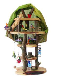 Baumhaus für kleine Püppchen und Zwerge
