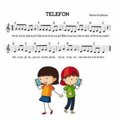 TELEFON – Marie Kružíková – MUZIKA VE ŠKOLE Kids Songs, Techno, Family Guy, Education, School, Fictional Characters, Musica, Nursery Songs, Onderwijs