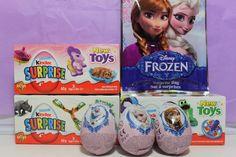 Disney Frozen Kinder Surprise Eggs Unboxing #frozen #kindersurprise #surpriseeggs