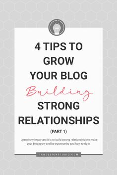 Learn how you can grow your blog at a deeper level by building meaningful and strong relationships with these simple and daily life tips. - 4 Tips to Grow your Blog Building Strong Relationships (Part 1) #growyourblog #bloggingcommunity #growingyourblog #howtogrowyourblog #optimization #socialmedia #trending #getsocial #bloggersgetsocial Make Blog, How To Start A Blog, Life Tips, Life Hacks, Strong Relationship, Relationships, Food Photography Tips, Looking For People, Creating A Blog