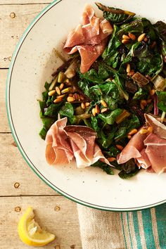 Wilted Chard & Proscuitto Salad - Anthology magazine, from Melina Hammer
