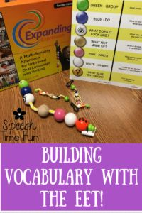 Speech Time Fun: Building Vocabulary with the EET (Expanding Expression Tool)
