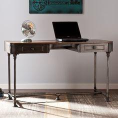 Industrial Writing Desk - metal/ wood