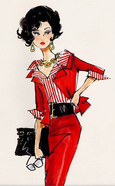Vintage illustration. This is from the sixties and you could wear this now. I guess that's how creative people get inspiration. Because you could just totally put this on the runway now. Biddy Craft