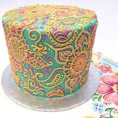 7 pasteles con diseño de Mandala , preciosos