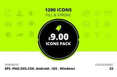 icons - value pack 1200 icons  @creativework247