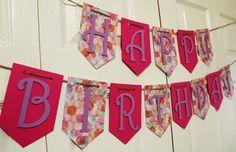 Feliz cumpleaños Banner Banner de por CreationsByRosieLou en Etsy