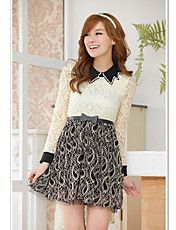 Women's plus size beads point collar embroide... – USD $ 22.19