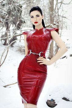 Riding Snaffle Dress by HMSlatex on Etsy, €260.00 - red nation