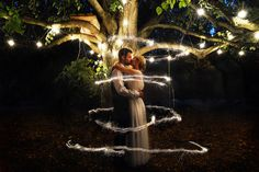 Nightime wedding, sparklers wedding photo, sparklers, bride and groom, sparkler ideas