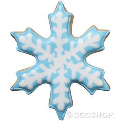 frosty snowflake cookie