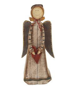 Take a look at this Heart Angel Figurine by Craft Outlet on #zulily today!