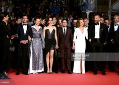 Actors Gaspard Ulliel, Lea Seydoux, Marion Cotillard, Xavier Dolan, Nathalie Baye, and Vincent Cassel attend the 'It's Only The End Of The World (Juste La Fin Du Monde)' Premiere during the 69th annual Cannes Film Festival at the Palais des Festivals on May 19, 2016 in Cannes, France.