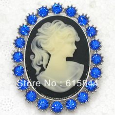 Beautiful Sapphire Crystal Rhinestone Woman Portrait Cameo Brooch pin Costume Jewelry Brooches & Pendant 619 B-in Brooches from Jewelry & Accessories on Aliexpress.com | Alibaba Group