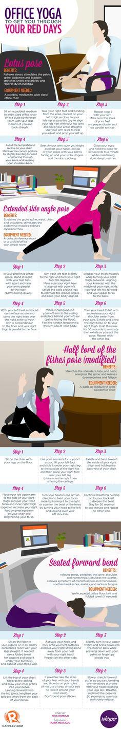Office Yoga vs. Menstrual Cramps [Infographic] | ecogreenlove