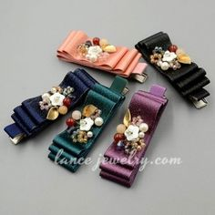 Special leaf & flower model decoration fabric hair clip