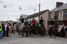 The Hunt on St. Stephen's Day, Carrigaline and after hunting drinks in the pub in Roberts Cove