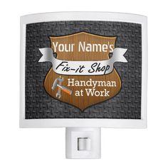 Personalized Handyman Fix-It Custom Name Nite Lights