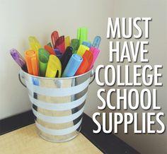 Must Have College School Supplies