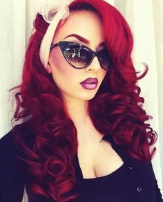 This look is bomb bay! Love the lip color and hair color too!