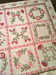 pretty appliqued quilt