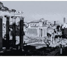 The Imperial Fora, Rome  - Wall Tapestries - #Home #Decor #HomeDecor #WallDecor #WallTapestries #Tapestries #Gift #Giftideas #Rome #Italy #RomanEmpire #AncientRome #Colosseum #Colosseo