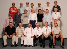 18 Formula One world champions in one photo. Top row: Fernando Alonso, Sir Jack Brabham, Michael Schumacher, Emerson Fittipaldi, Lewis Hamilton, Mika Hakkinen, Damon Hill. Mid row: Niki Lauda, Keke Rosberg, Mario Andretti, Sir Jackie Stewart, Alain Prost, Jacques Villeneuve, John Surtees. Last row: Alan Jones, Nigel Mansell, His Royal Highness Prince Salman bin Hamad Al Khalifa, Bernie Ecclestone, Jody Scheckter, Jenson Button. Awesome eh?