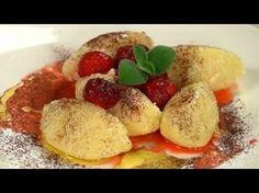 Krupicové halušky - recept na krupicové knedlíčky s jahodami - VIDEO Ako sa to robí.sk Gnocchi, French Toast, Potatoes, Vegetables, Breakfast, Ds, Youtube, Morning Coffee, Potato