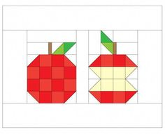 Sewing Quilts Patchwork Apple Mini Quilt - First, there was a pineapple then there was an orange and now we have an apple! Well, two apples. Colchas Quilting, Machine Quilting, Barn Quilt Designs, Quilting Designs, Mini Quilts, Quilting Tutorials, Quilting Projects, Mini Quilt Patterns, Fall Quilts