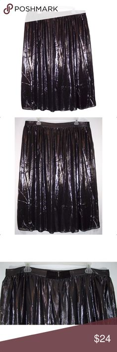 NEW Worthington Shimmer Skirt Brand new, grayish black color, sheer top layer with lining, back zipper. Measurements: 18W-waist-40, 20W-waist-44, 24W-waist-48. Length is 30. NWOT Worthington Skirts A-Line or Full