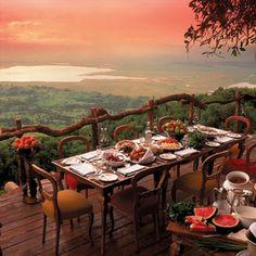 World's Best Restaurant Views: Ngorongoro Crater Lodge
