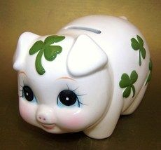 Irish (I have this cutie and when you deposit a coin she plays 'When Irish Eyes Are Smiling' . Irish Eyes Are Smiling, This Little Piggy, Lucky Day, The Ordinary, St Patrick, Piggy Banks, Clovers, China, Pigs