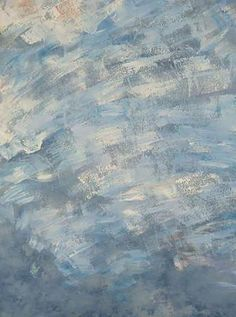 Blue Abstract Hand Painted Muslin - 10x20 - LCMP8091 - LAST CALL