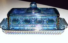 Vintage Carnival Glass Butter Dish by OffTheChainVintage on Etsy, $23.00