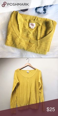 NWOT Mossimo Sweater Lightweight, textured sweater in a light mustard yellow. Perfect for fall and layering! New without tags. Mossimo Supply Co. Sweaters