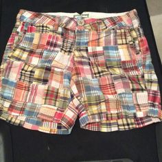 American eagle Bermuda shorts Colorful patchwork design. Used and in excellent condition.  Very comfortable American Eagle Outfitters Shorts Bermudas