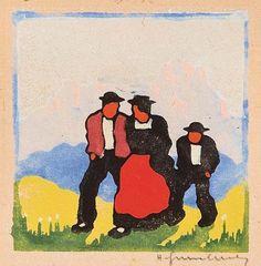 Kunsthandel Widder - Herbert Gurschner Woodcut Art, New Art, Austria, Printmaking, Illustration, Abstract Art, Prints, Painting, Interwar Period