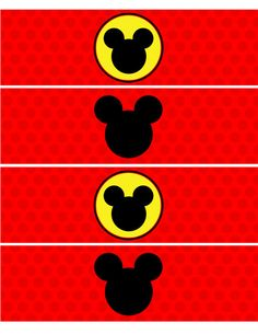 INSTANT DOWNLOAD Mickey Mouse Water Bottle by AdeleGraphics, $1.00