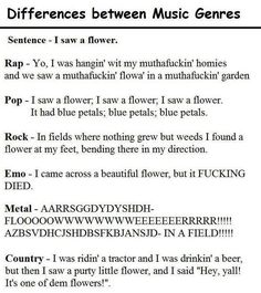 Differences between Music Genres there is a reference to Rise Against in here. Sorry about the language