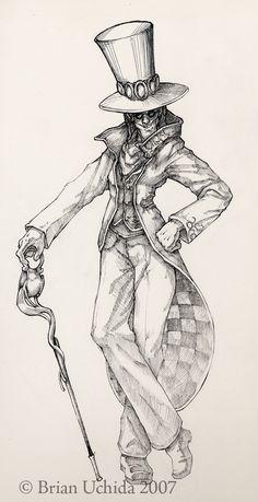 30 Best Mad Hatter Images Surrealism Alice In Wonderland Drawings