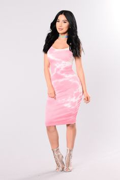 5540e9a7185 Close To You Tie Dye Dress - Pink
