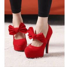 Wish I could wear red heels like these