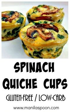 Spinach Quiche Cups | 20 EGGCELLENT WAYS TO ENJOY EGGS