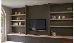 Tv Decor, Diy Room Decor, Home Decor, Living Room Wall Units, Living Room Decor, Home Room Design, House Design, Tv Wand, Muebles Living